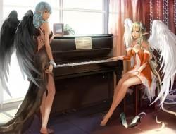 girls, barefoot, blonde_h…