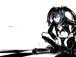 black_rock_shooter, blue_…