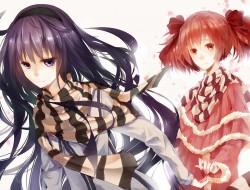 girls, akemi homura, blac…