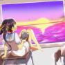 barefoot, seifuku, sunset…