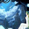 hatsune miku, dress, sky,…