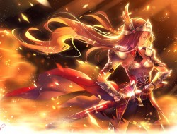 Sword  Long hair  Flames …