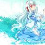 blue hair, crying, imagin…