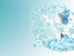 nono, blue hair, kaku sei…