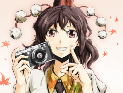 brown hair, camera, close…