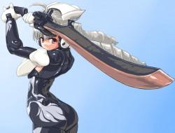 bodysuit, busou shinki, g…