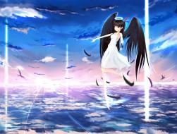 angel ,  clouds ,  dress …
