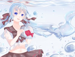 blue_eyes , bottle_miku ,…