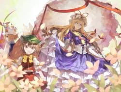 dress , flowers , hat , s…