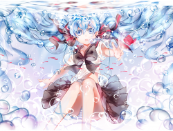aqua_hair , bottle_miku ,