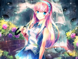 flowers , megurine_luka ,